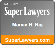 Rated by super lawyers manav H. Raj | superlawyers.com